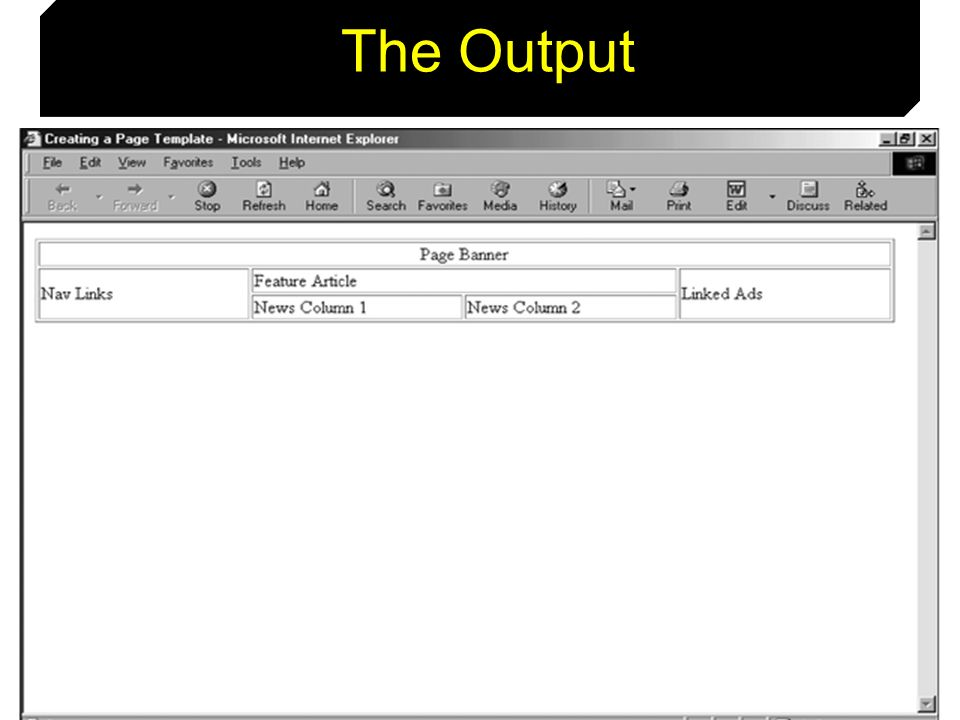87 The Output