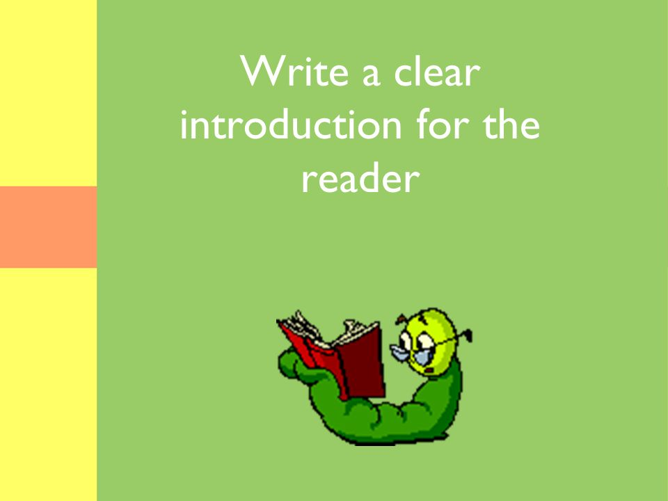 Write a clear introduction for the reader