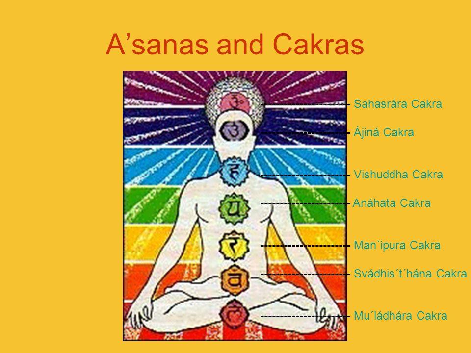 Asanas and Cakras ----------------------- Sahasrára Cakra ----------------------- Ájiná Cakra ----------------------- Vishuddha Cakra ----------------