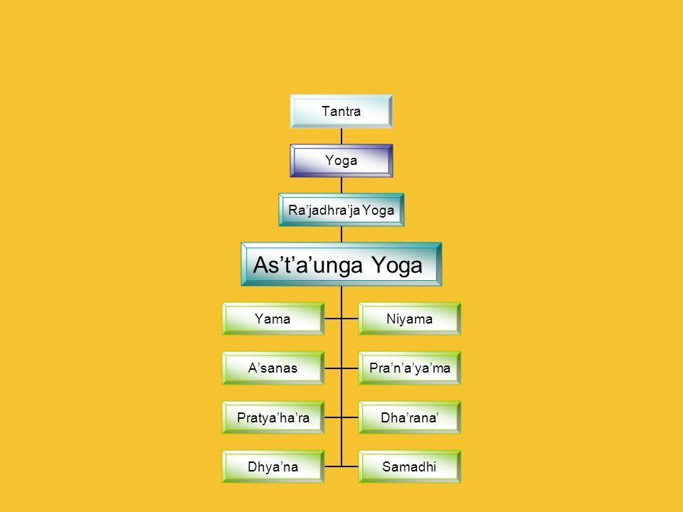 Tantra Yoga Rajadhraja Yoga Astaunga Yoga YamaNiyama AsanasPranayama PratyaharaDharana DhyanaSamadhi