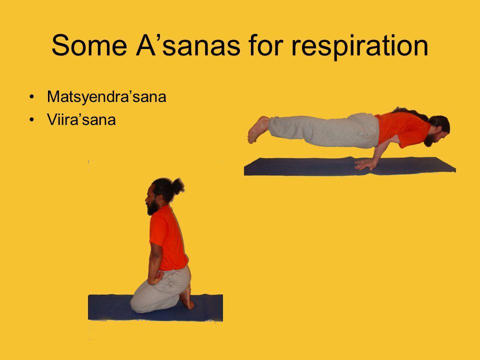 Some Asanas for respiration Matsyendrasana Viirasana
