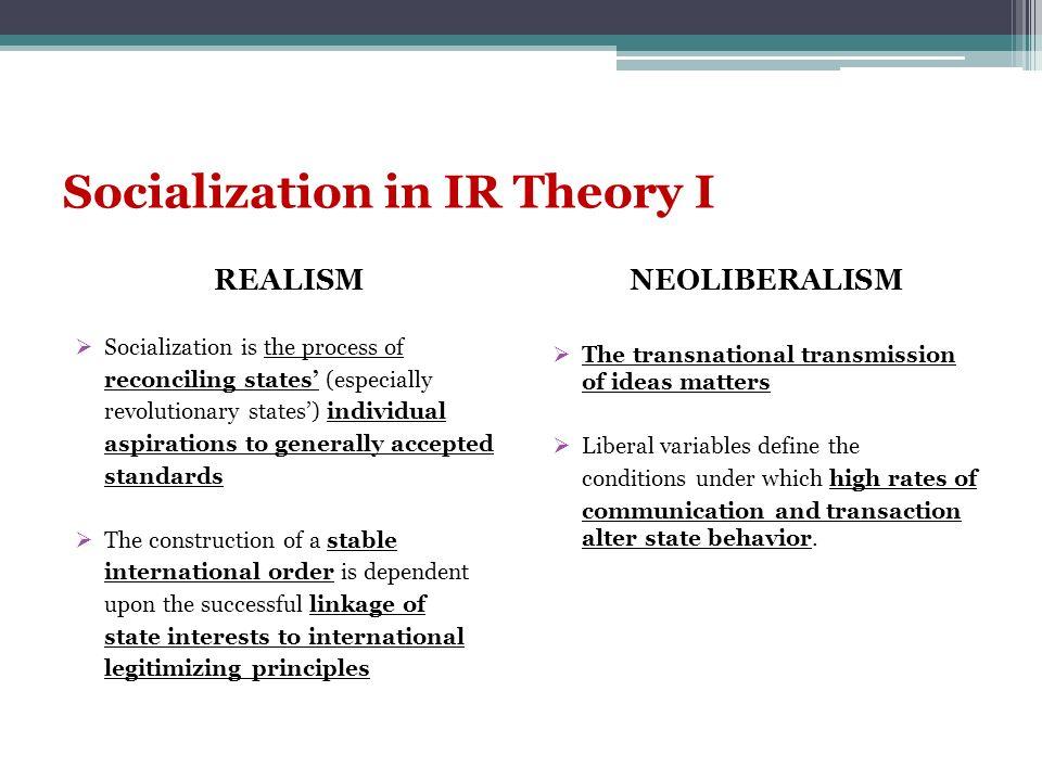 Socialization in IR Theory II.