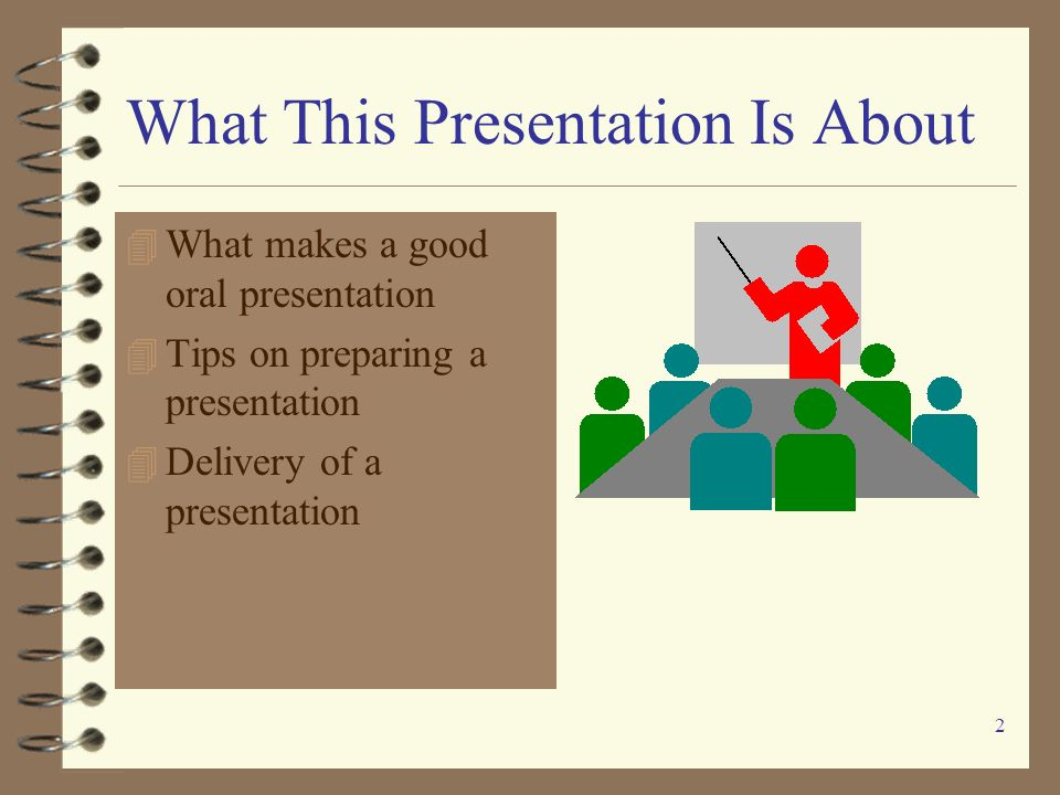 1 Preparing and Delivering An Effective Oral Presentation A Quick Guide