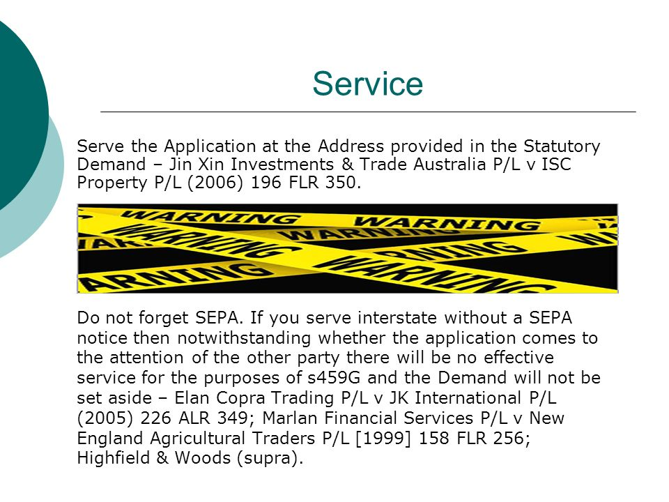 Service Do not forget SEPA.