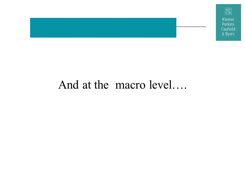 And at the macro level….