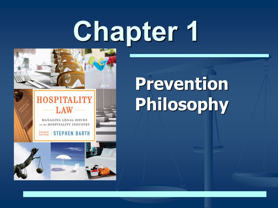 Chapter 1 Prevention Philosophy