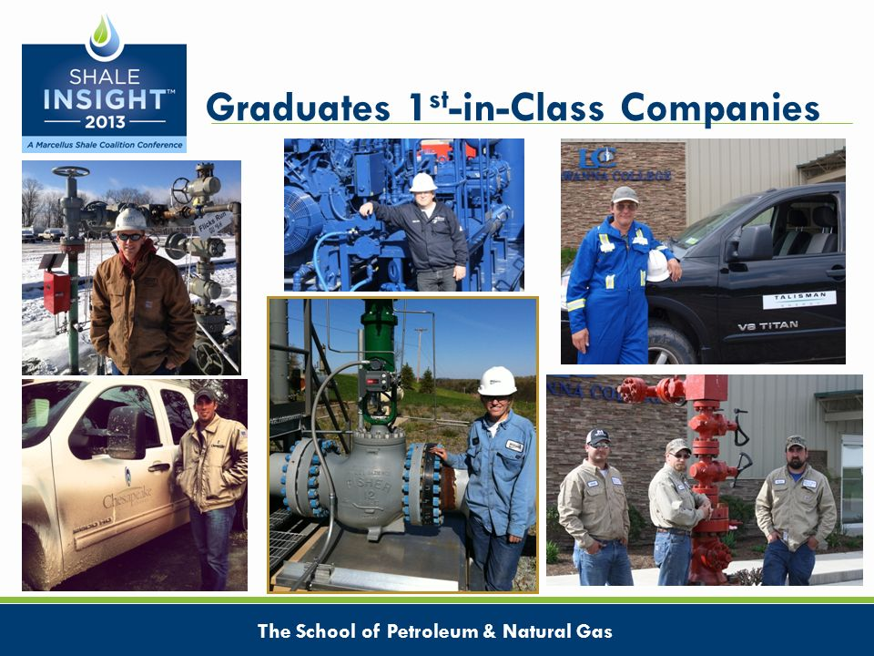 Graduates 1 st -in-Class Companies The School of Petroleum & Natural Gas