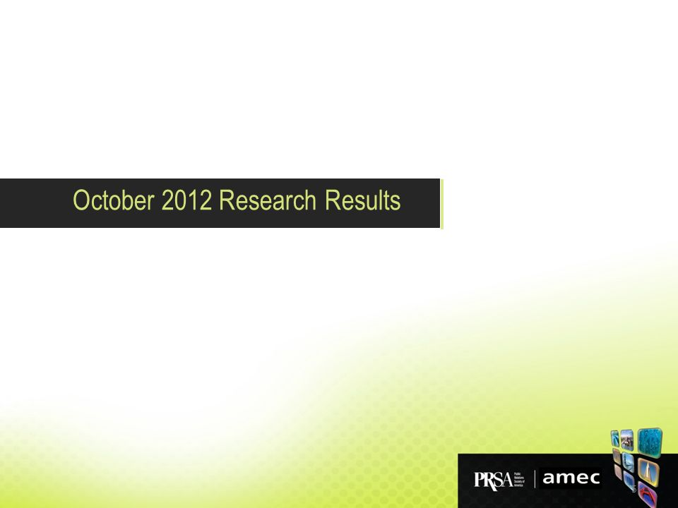 5 October 2012 Research Results