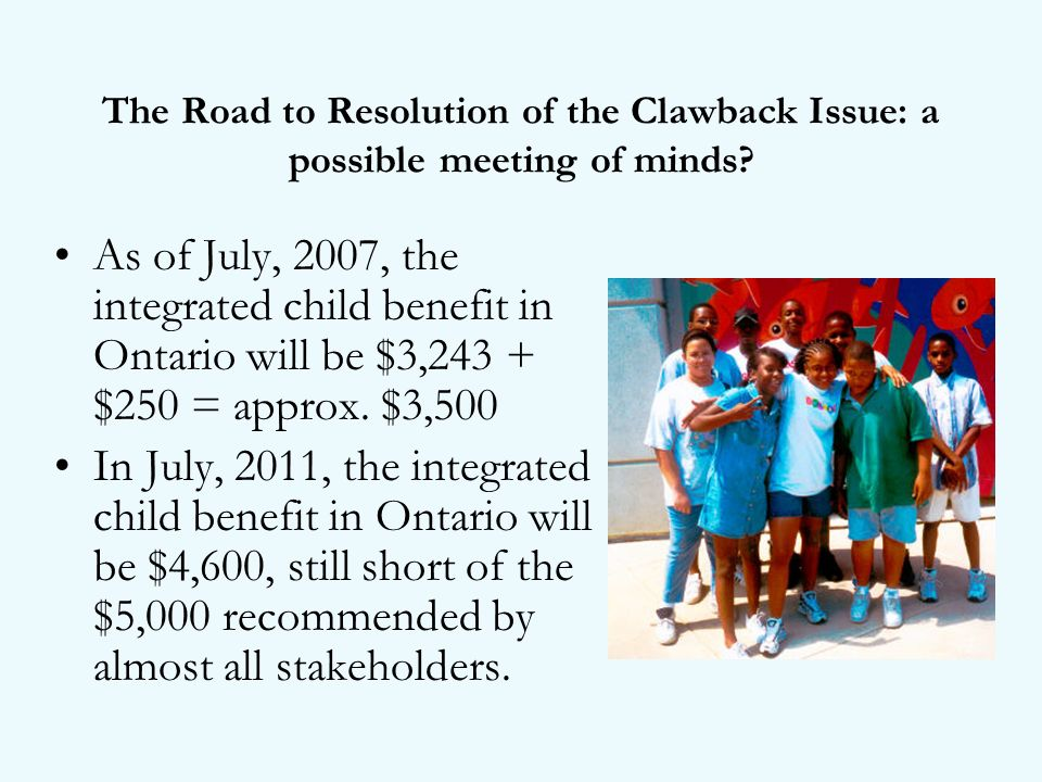 The Road to Resolution of the Clawback Issue: a possible meeting of minds.