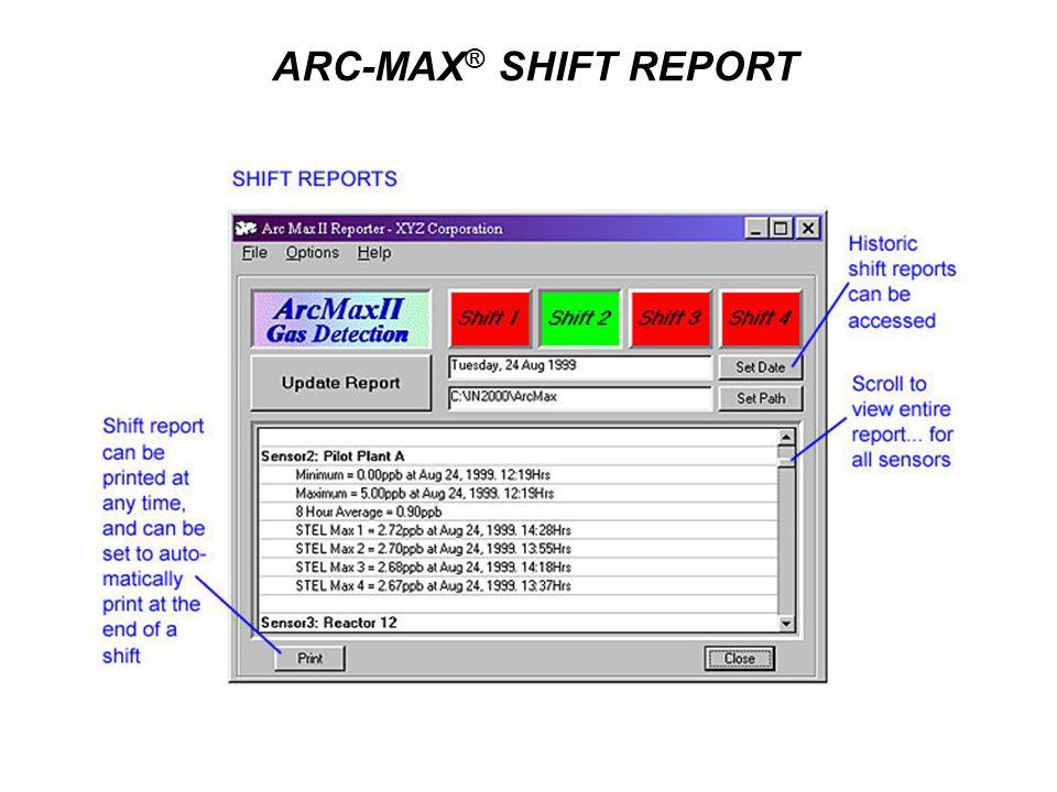 ARC-MAX ® SHIFT REPORT