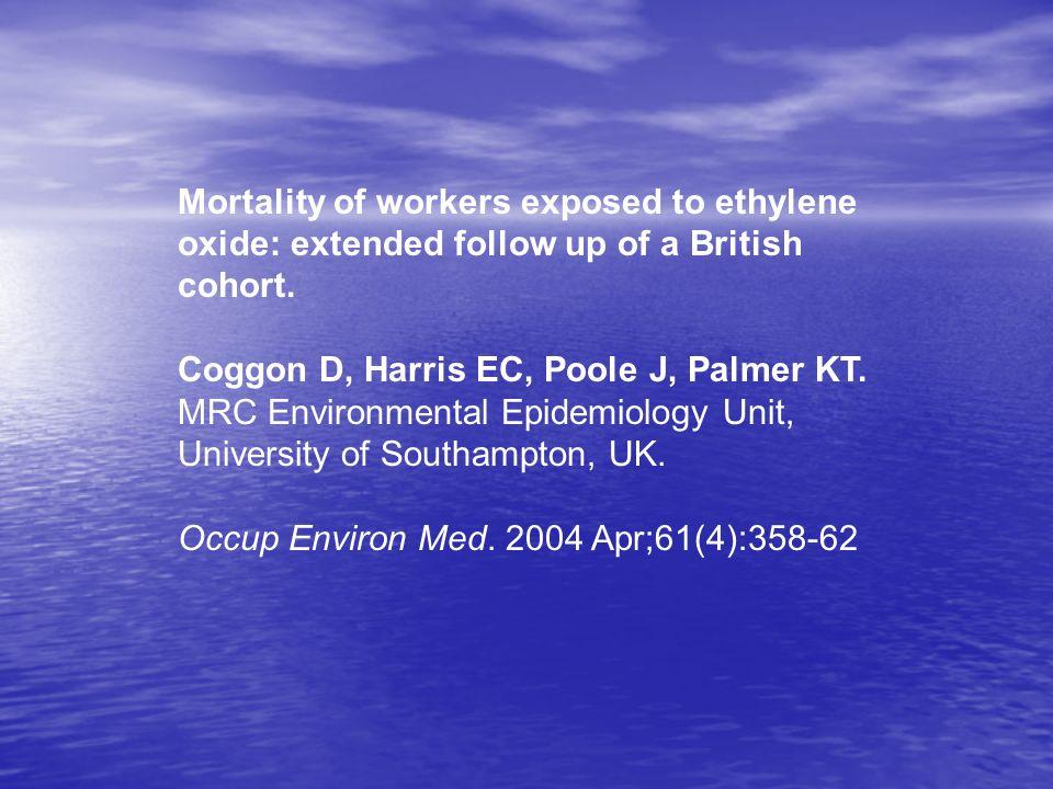 MONITORING FOR ETHYLENE OXIDE