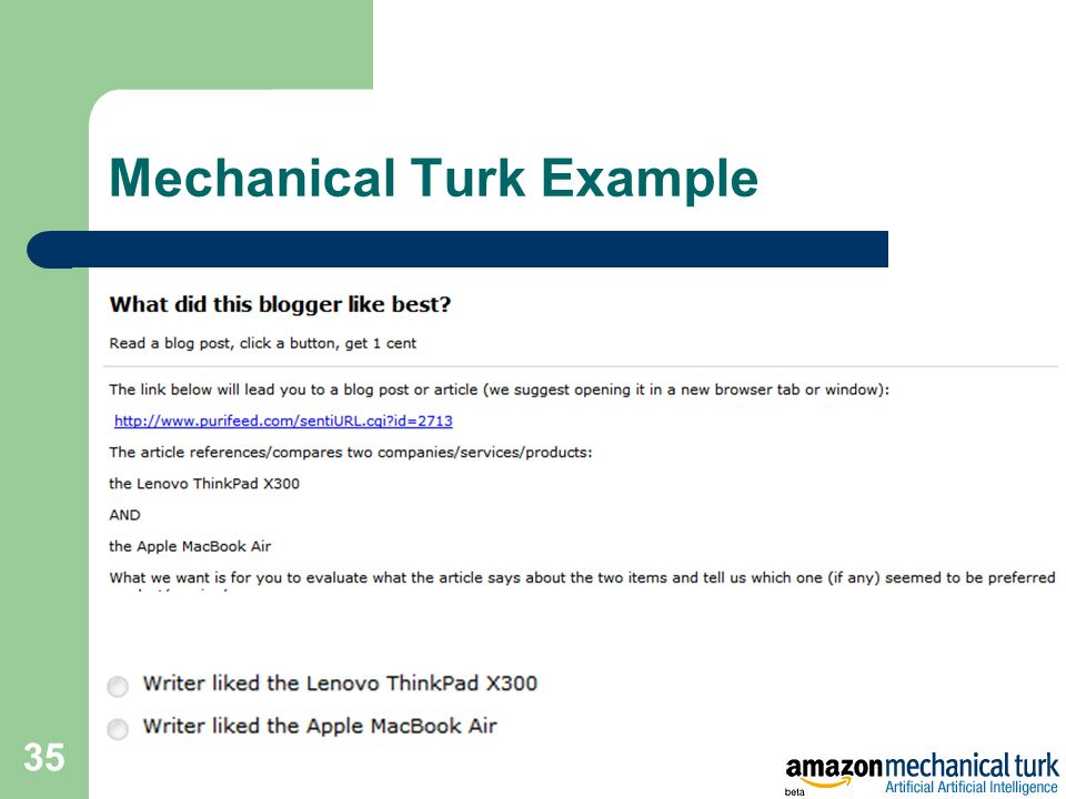 Mechanical Turk Example 35