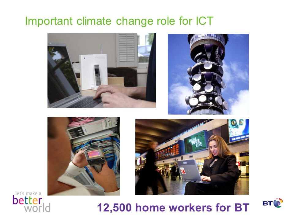 Important climate change role for ICT 12,500 home workers for BT