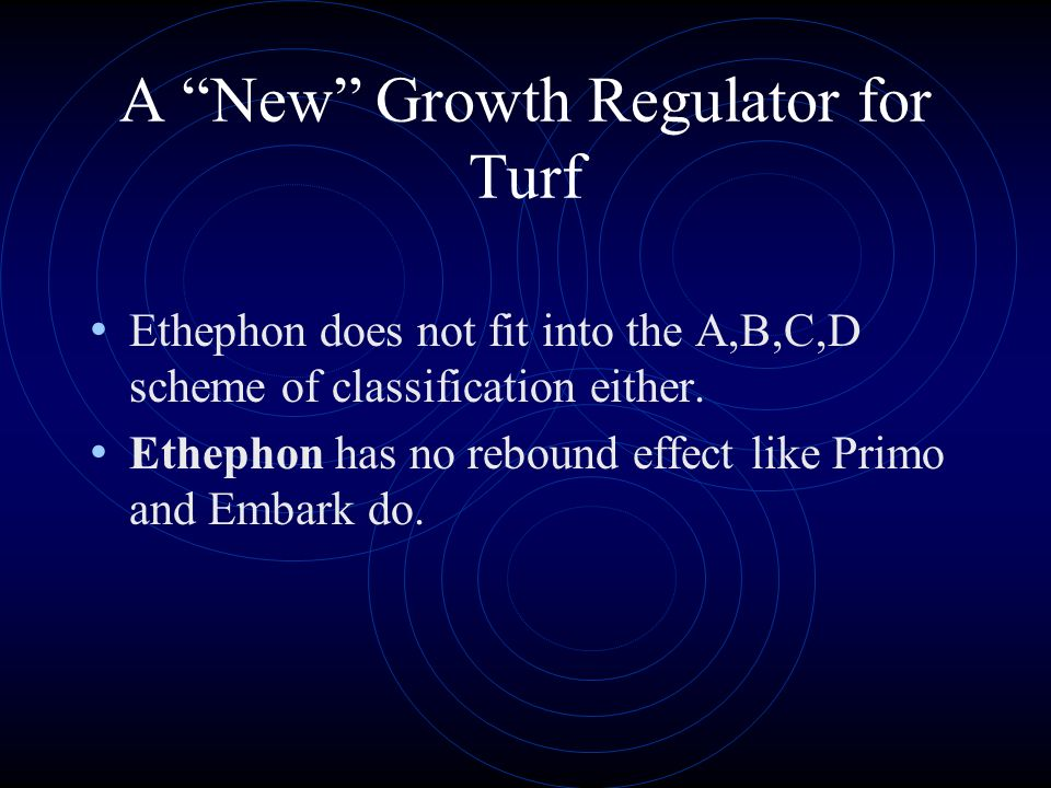A New Growth Regulator for Turf Proxy (ethephon) recently received a label for turfgrass use. Ethephon works by releasing ethylene into turfgrass leav