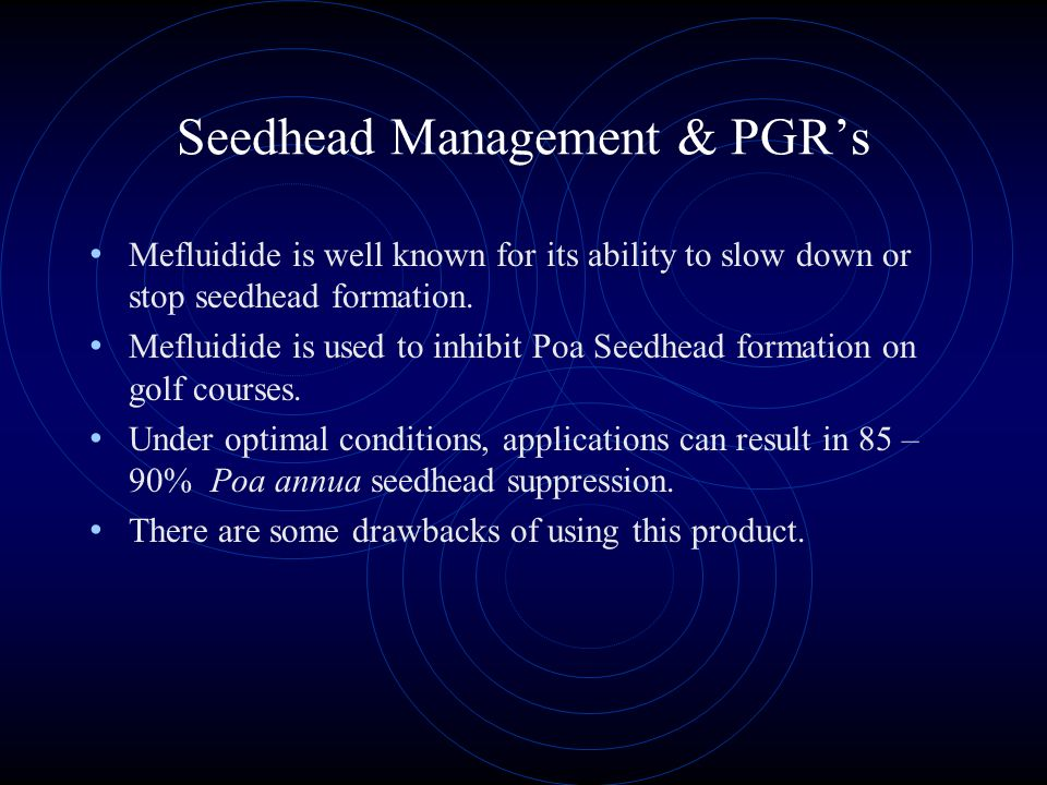 Seedhead Management At courses where Poa is tolerated, reducing seed heads makes a difference. Most seed head management has relied on a combination o