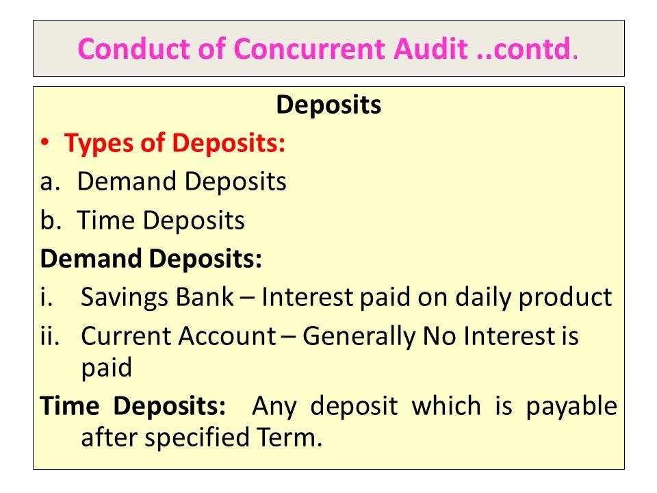 Conduct of Concurrent Audit..contd.