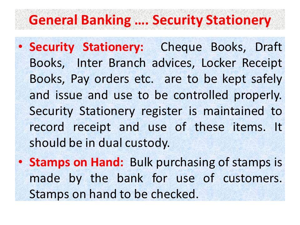 General Banking ….