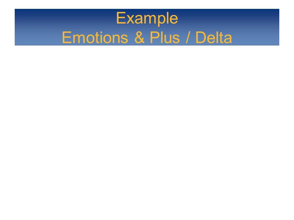 Example Emotions & Plus / Delta