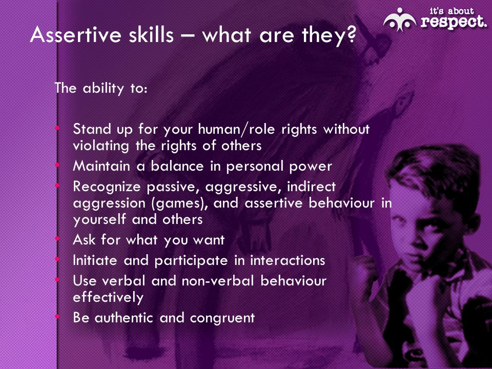 Assertive skills – what are they.
