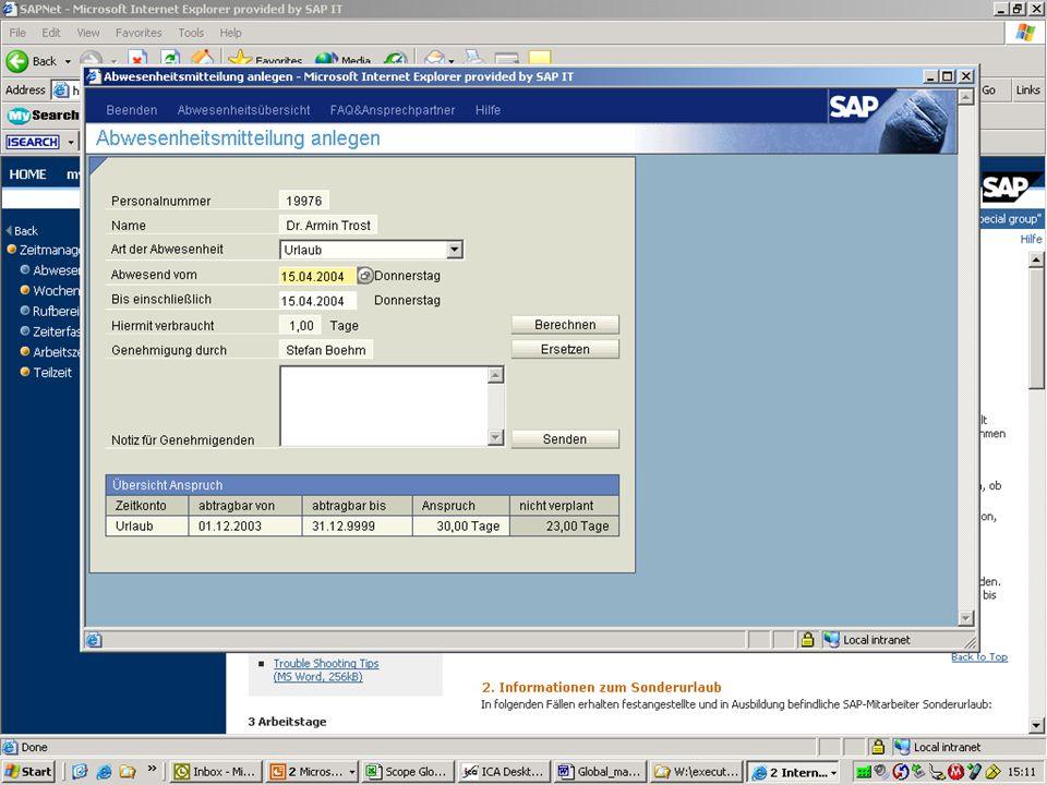 89 Prof. Dr. Armin TrostAdvanced Human Resource Management; HFU Business School (2009) www.armintrost.de Screenshot Abwesenheitsmitteilung