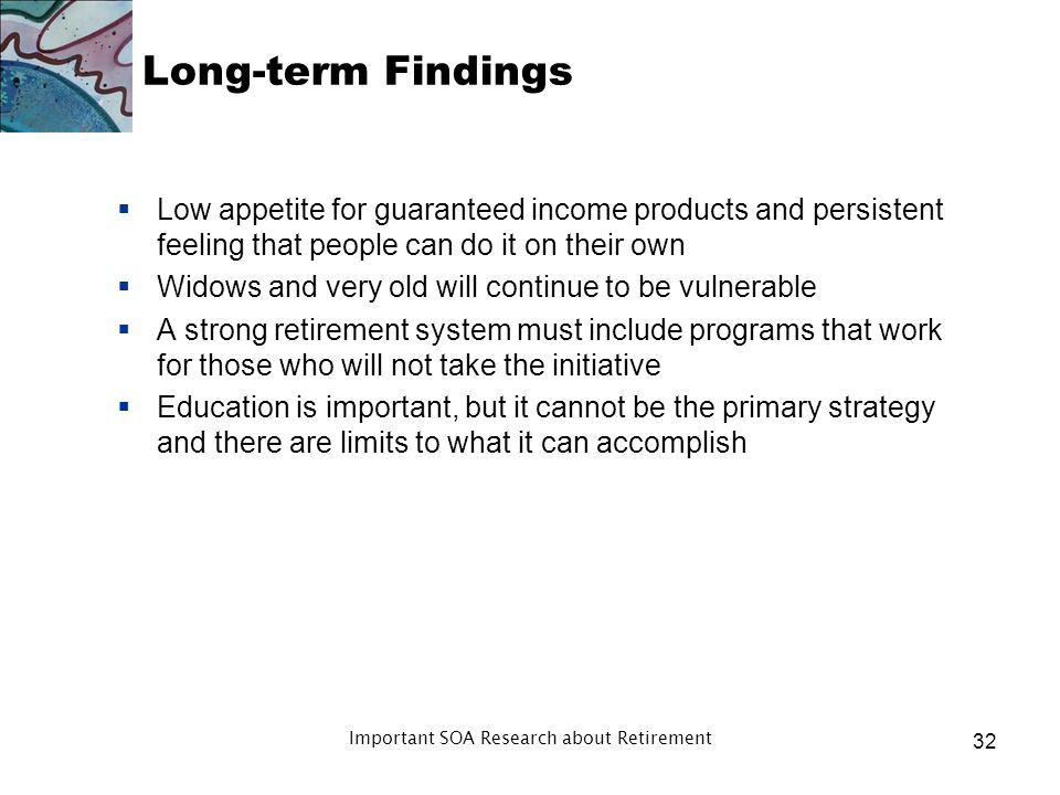 Long-term Findings Misperceptions still exist after 20+ years of experience with 401(k) plans and IRAs There is a lot of stability in the survey resul