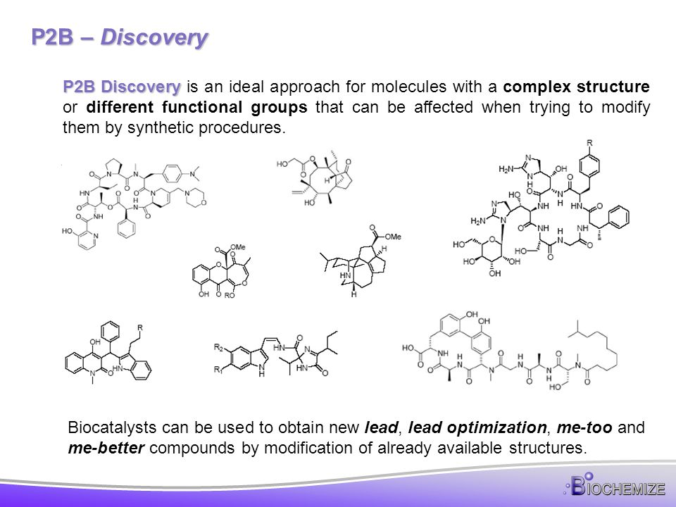 P2B – Discovery Directed The type of transformation is selected based on the functional group or structure targeted.