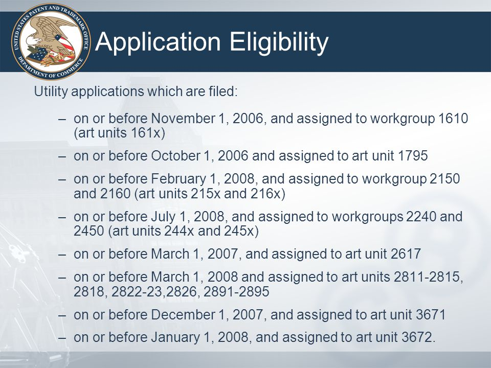 Key Changes in EFAI Pilot (cont.) Initial FAI Pilot Application abandoned if applicant does not timely respond to the Pre-Interview communication Applicant must wait for notification of a First Action Interview Office Action after the interview before submitting a response Enhanced FAI Pilot Failure to timely respond to the Pre-Interview Communication treated as a waiver to conduct interview Applicant may waive notification of a First Action Interview Office Action and submit a response at the conclusion of the interview