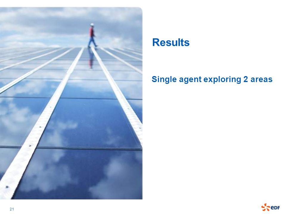 21 Results Single agent exploring 2 areas