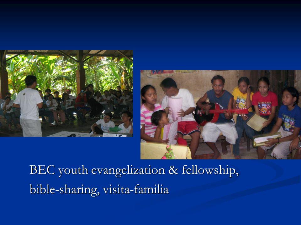 BEC youth evangelization & fellowship, bible-sharing, visita-familia