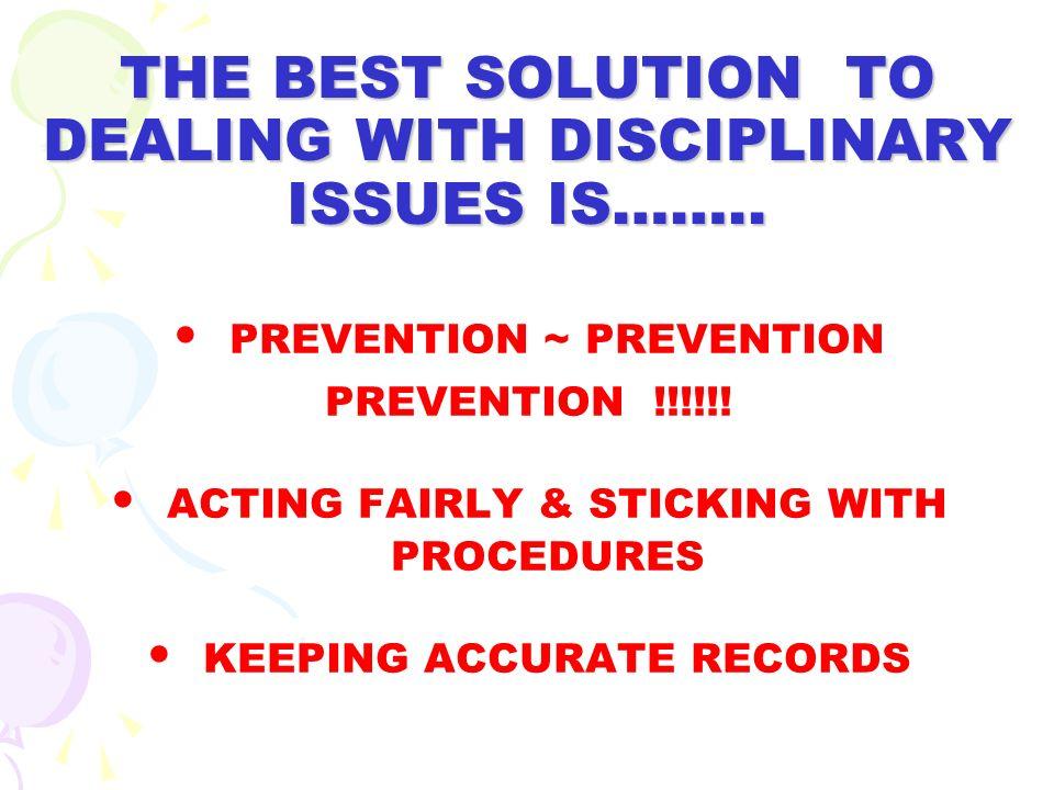 7. FACILITATION OF A DISCIPLINARY MEETING
