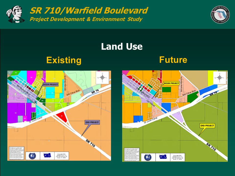 SR 710/Warfield Boulevard Project Development & Environment Study Land Use Existing Future