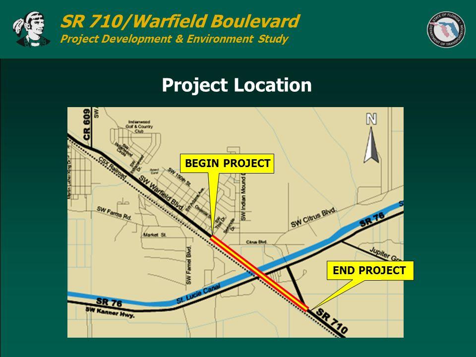 SR 710/Warfield Boulevard Project Development & Environment Study Project Location BEGIN PROJECTEND PROJECT