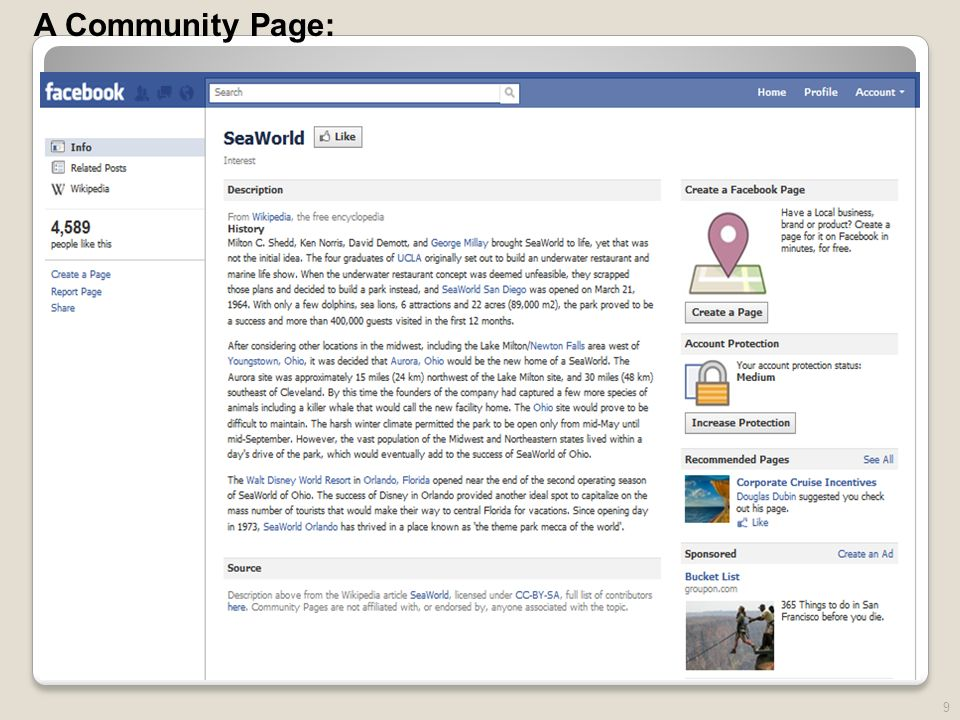 9 A Community Page: