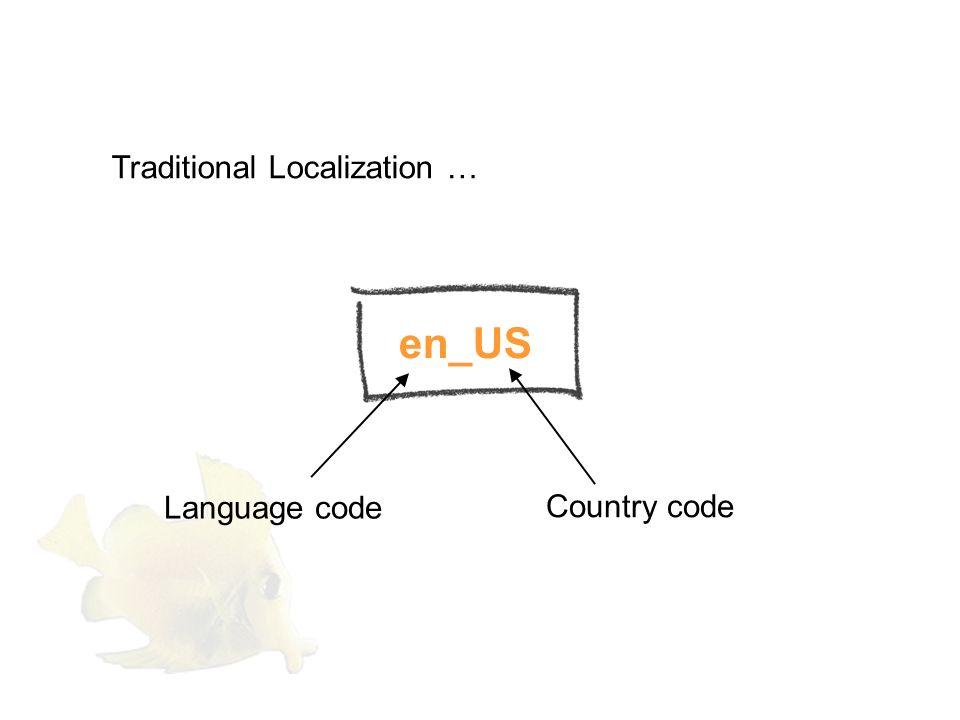 3 Language code: ISO 639-1, Country code: ISO 3166.