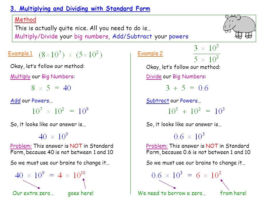 Writing Numbers In Standard Form Aeternaqip