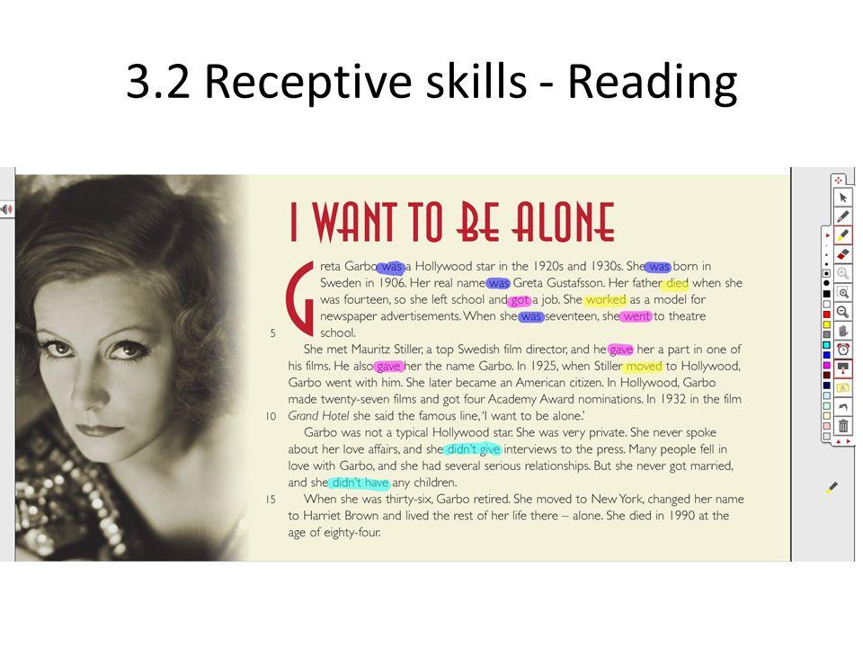 3.2 Receptive skills - Reading