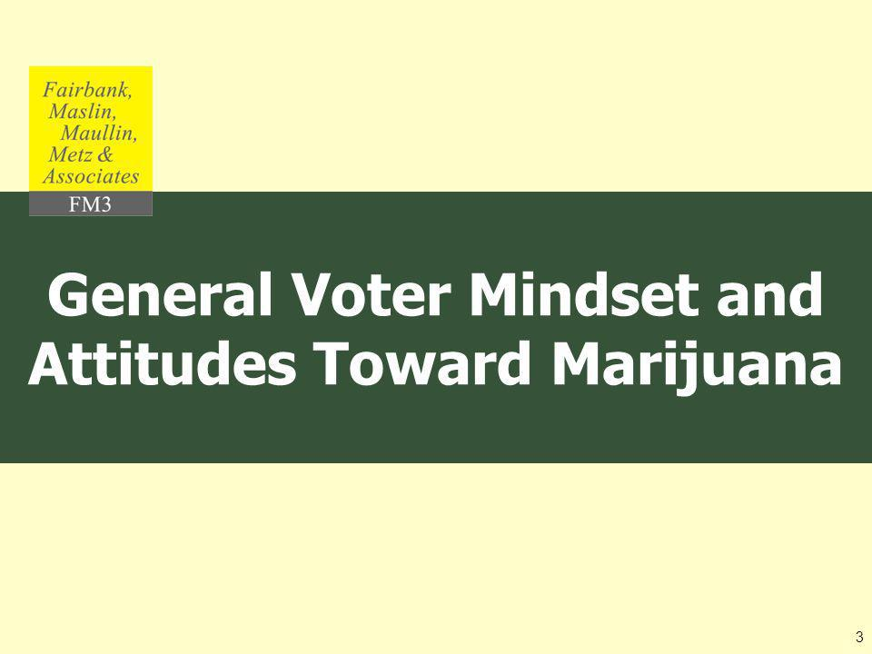 General Voter Mindset and Attitudes Toward Marijuana 3