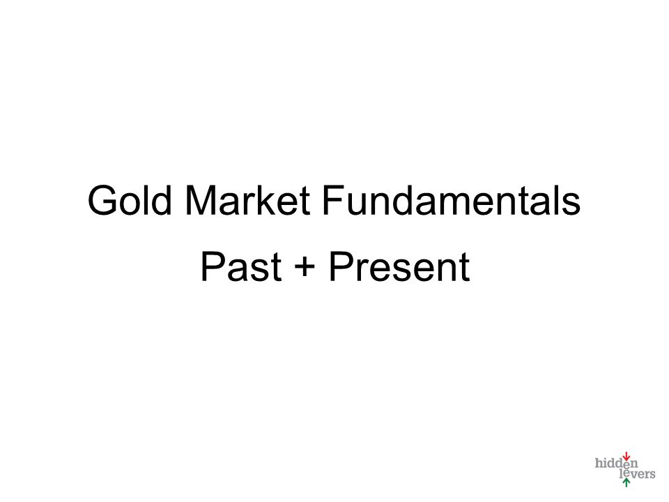 Gold Market Fundamentals Past + Present