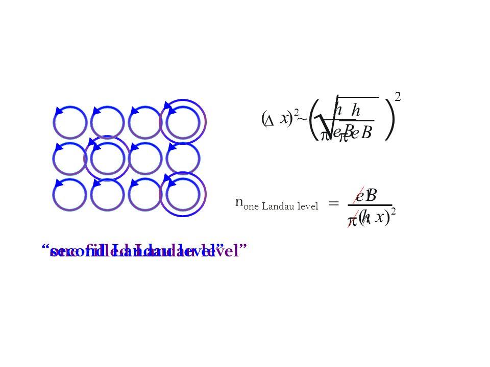 e B p h Pauli Exclusion Principle h 2 p x D p D Heisenberg Uncertainty Principle ~ p D p RMS = e B 2 p h 2 1 ~
