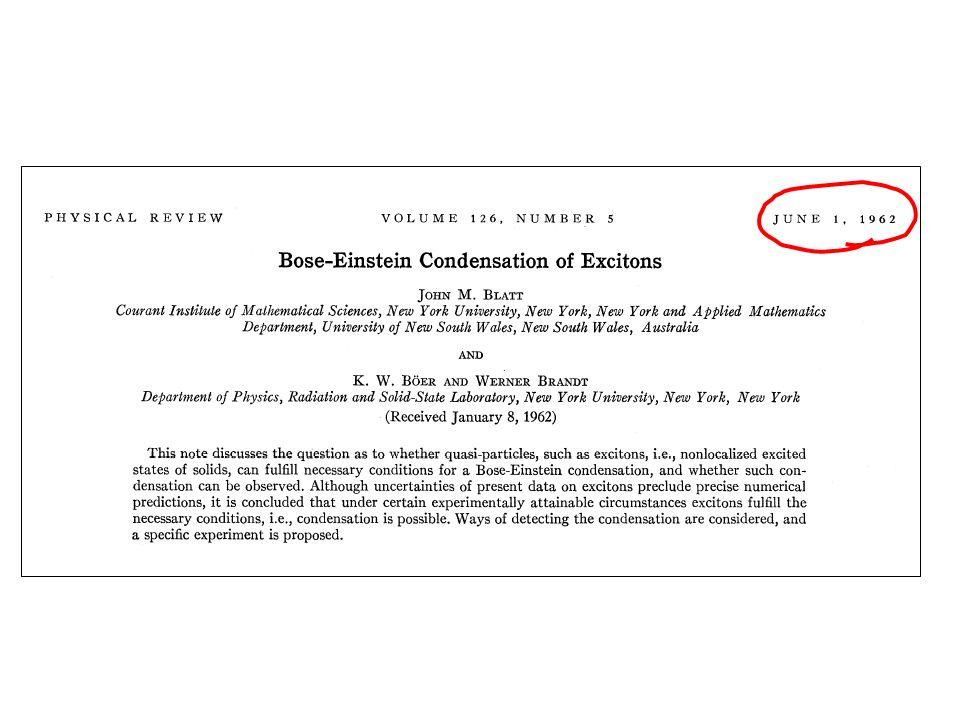 superfluid helium superconductor Bose-Einstein Condensates (BECs) BEC of sodium atoms Durfee & Ketterle, Optics Express 2, 299 (1998)