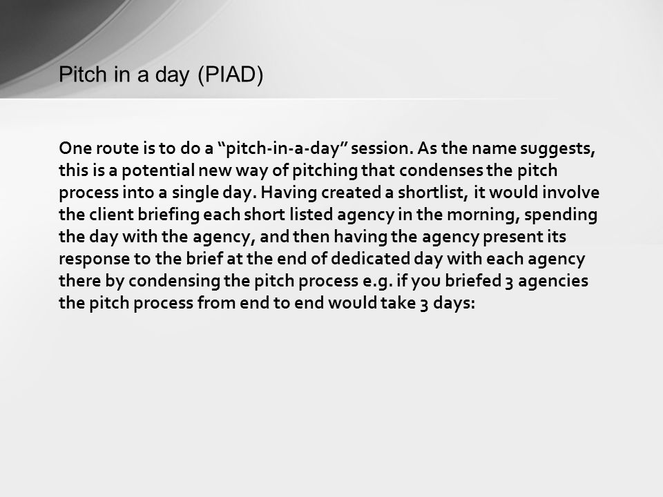 61% of respondents indicated that they were interested in the concept of a two-week pitch, whilst 21% were not interested Do you feel that this way of pitching has potential for you as a client?