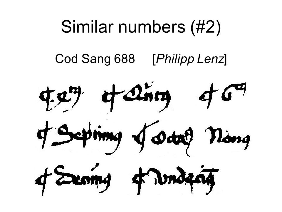 Similar numbers (#2) Cod Sang 688 [Philipp Lenz]
