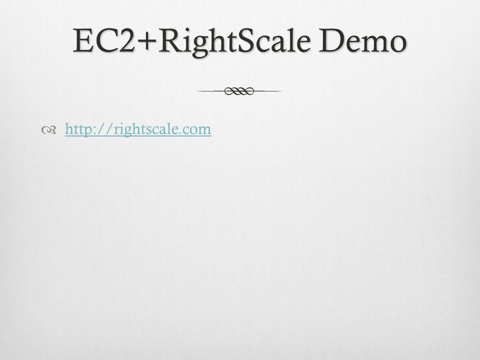 EC2+RightScale Demo http://rightscale.com