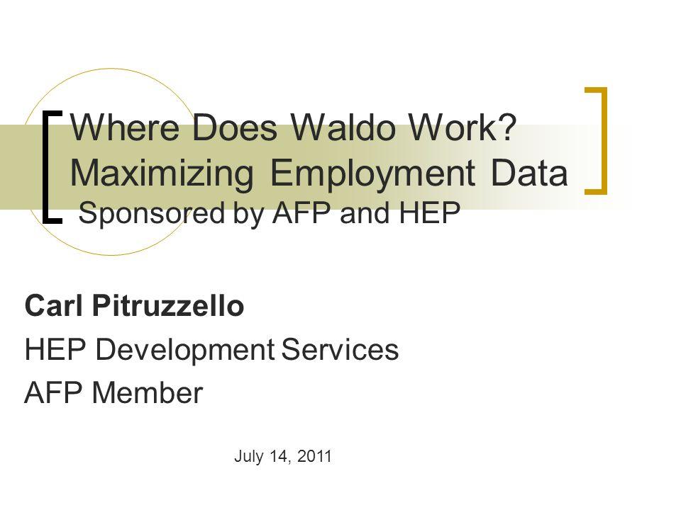 Where Does Waldo Work.