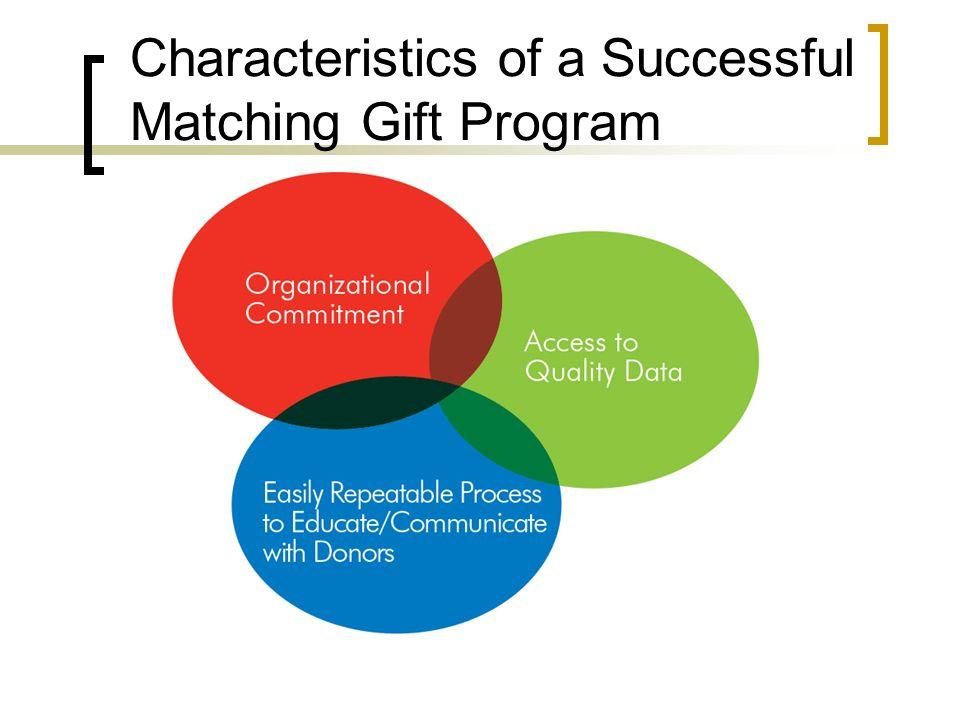 Characteristics of a Successful Matching Gift Program