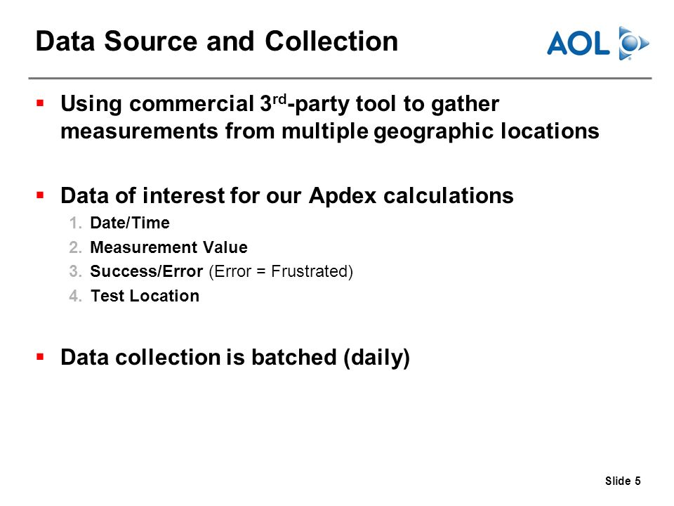 Slide 16 Apdex vs. Other Metrics