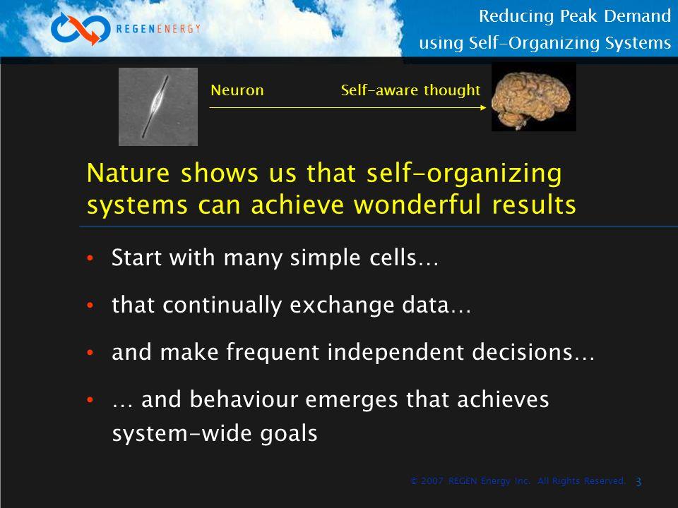 4 Reducing Peak Demand using Self-Organizing Systems © 2007 REGEN Energy Inc.