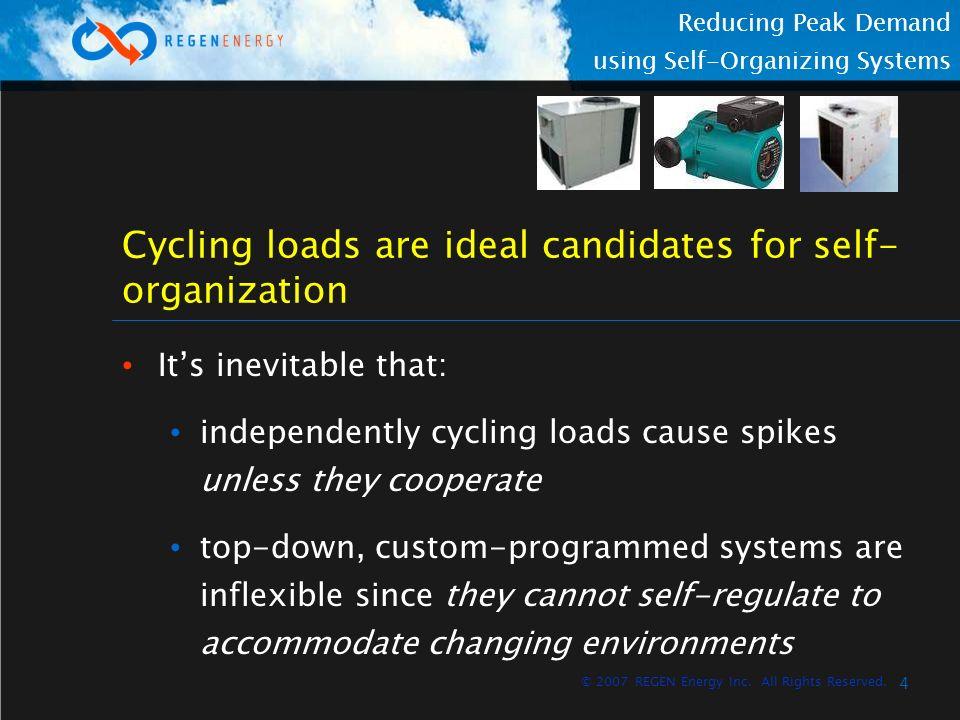 5 Reducing Peak Demand using Self-Organizing Systems © 2007 REGEN Energy Inc.