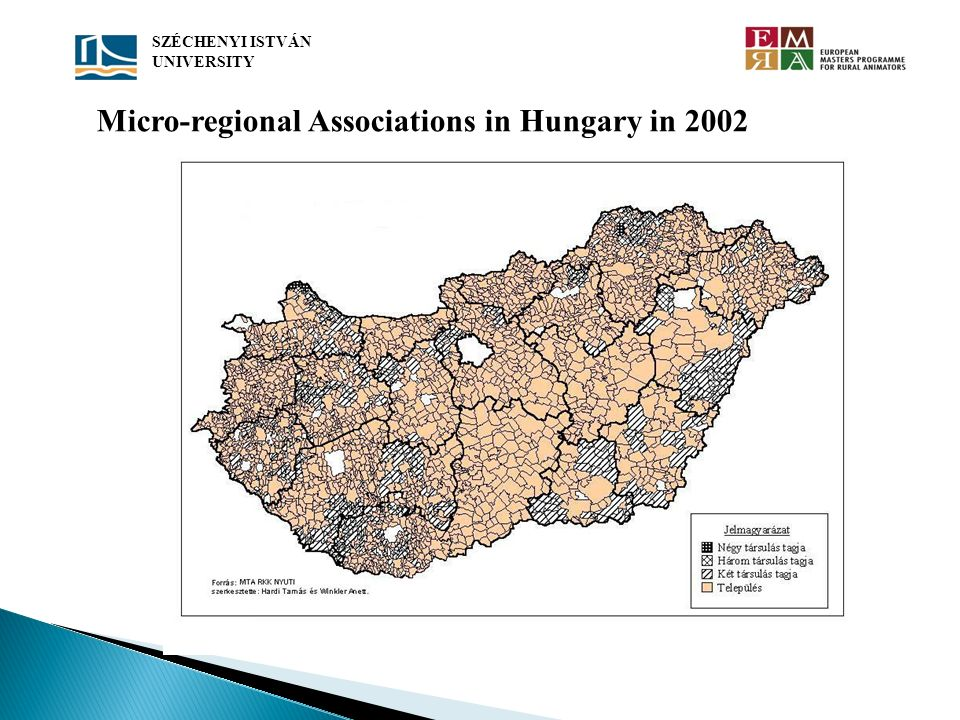 Micro-regional Associations in Hungary in 2002 SZÉCHENYI ISTVÁN UNIVERSITY