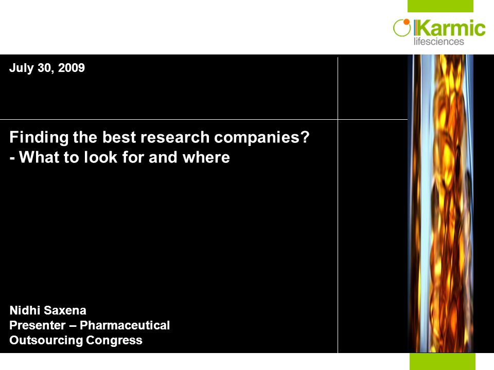 Finding the best research companies.